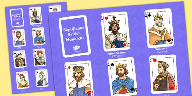 Significant British Monarchs Poster - monarch, poster, british
