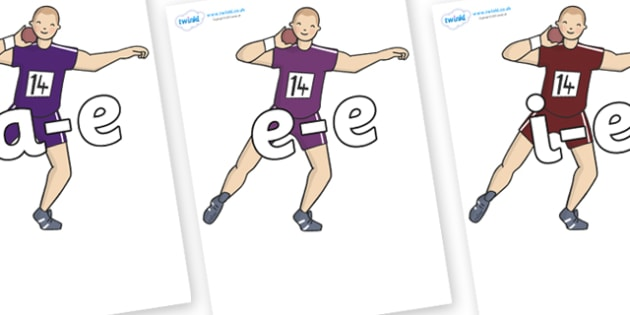 Modifying E Letters on Shot Put - Modifying E, letters, modify, Phase 5, Phase five, alternative spellings for phonemes, DfES letters and Sounds