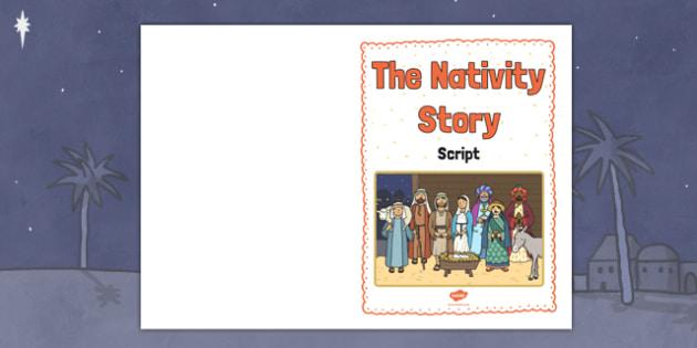 The Nativity Story Script Cover A5 - the nativity story, nativity, the nativity, A5, A5 script cover, script cover, script cover for the nativity story, book cover, story cover, nativity cover, front page image, the nativity image