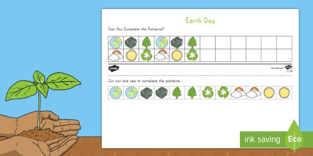 Earth Day ABC Pattern Worksheet Earth Day worksheet ABC – Abc Pattern Worksheets