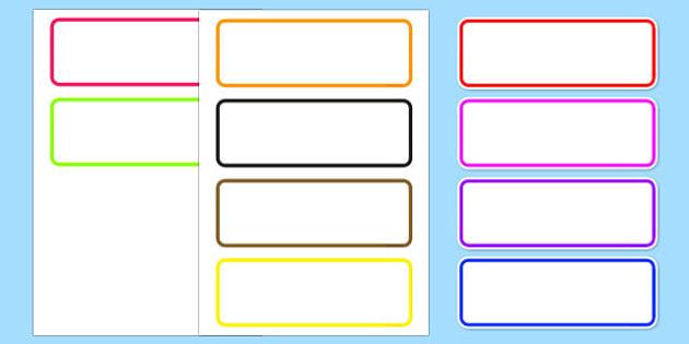 Editable Drawer Peg Name Labels - labels, signs, name labels
