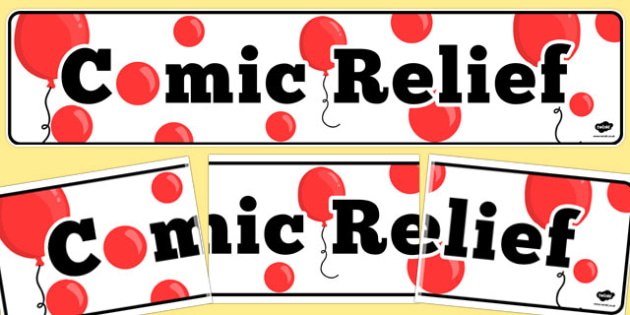 Comic Relief Display Banner - comic relief, display, banner