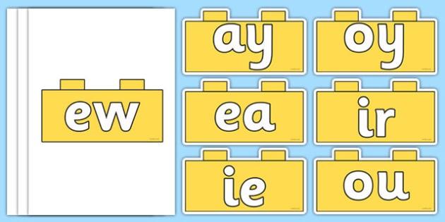 Phase 5 Phonemes on Building Bricks - phase 5, phonemes, building bricks, build, brick