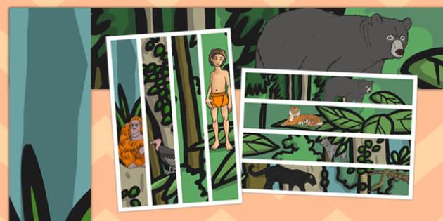 The Jungle Book A3 Display Borders - jungle book, a3, display borders