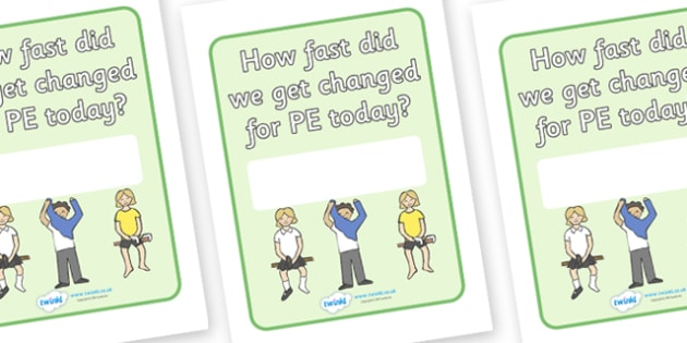 PE Changing Sign - PE, changing, changing clothes, flashcard, visual aid, Physical education, prompt, PE equipment, posters, signs, display, PE actions