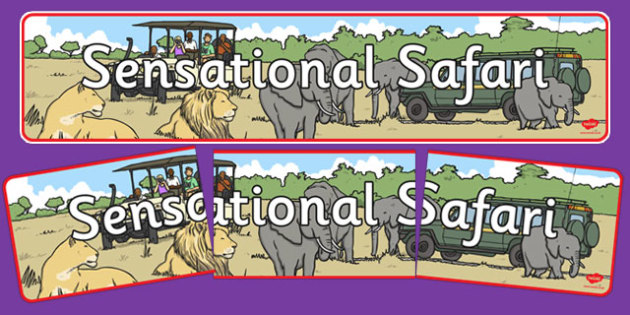 Sensational Safari Display Banner - sensational, safari, display banner