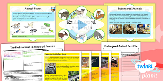 PlanIt - Science Year 2 - The Environment Lesson 6: Endangered Animals Lesson Pack - planit, science, year 2, lesson 6