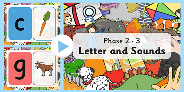 Letters and Sounds Phases 2-3 PowerPoint with Pictures - letters and sounds powerpoint, phonics powerpoint, phase 2-3 powerpoint, letters and sounds