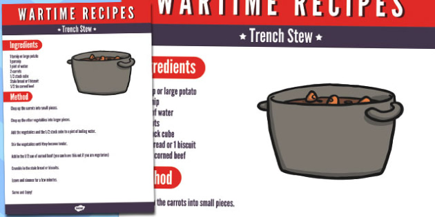 Wartime Trench Stew Recipe - wartime, trench, stew, recipe, food
