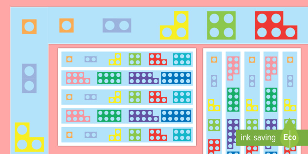Counting Number Shapes Display Borders