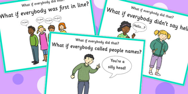 'What if Everyone Did That?' Cards (Set 3) - what if, everyone, did, cards