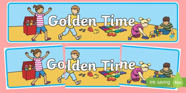 Golden Time Display Banner - Golden time display, KS1, display banner, Editable Golden Time Display Set, Golden time, golden rules, golden time display, rules, behaviour, golden rule, rule, classroom rules, behaviour management