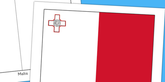 Malta Flag Display Poster - geography, countries, display