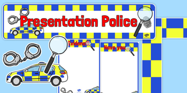 Presentation Police Display Pack - presentation police, display, pack