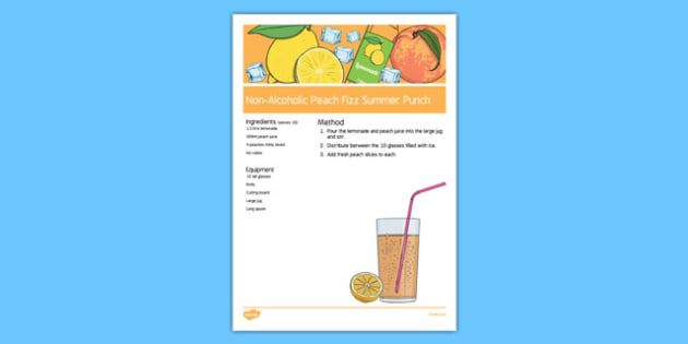 Elderly Care Summer Non-Alcoholic Drink Recipe - Elderly, Reminiscence, Care Homes, Summer