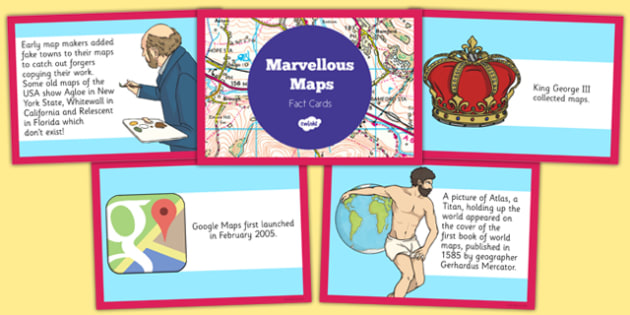 Marvellous Maps Fact Cards - marvellous maps, fact cards, fact, cards