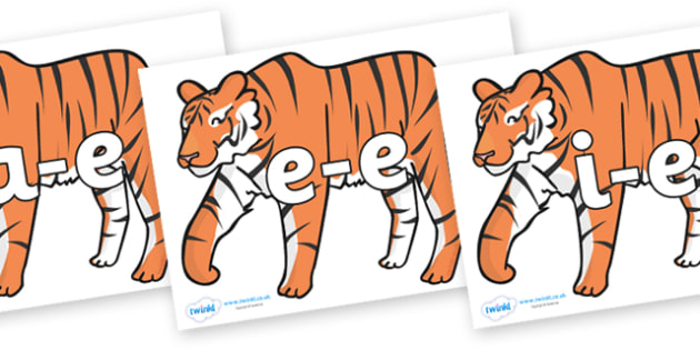 Split Digraphs on Chinese New Year Tiger - Modifying E, letters, modify, Phase 5, Phase five, alternative spellings for phonemes, DfES letters and Sounds