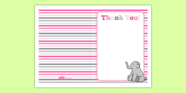 Baby Shower Thank You Card Pink Themed - baby shower, baby, shower, newborn, pregnancy, new parents, thank you card