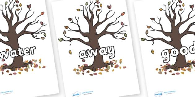 Next 200 Common Words on Autumn Trees - Next 200 Common Words on  - DfES Letters and Sounds, Letters and Sounds, Letters and sounds words, Common words, 200 common words