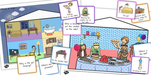 Picture Scenes With 'Wh' Questions and Answer Cards Pack - australia