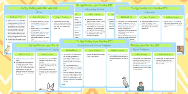 The Ugly Duckling EYFS Lesson Plan Ideas - story, lesson ideas