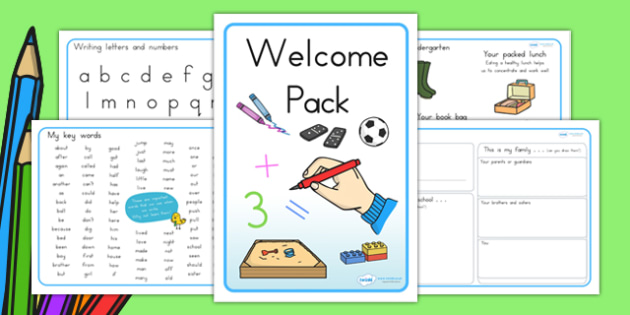 F-2 New Class Welcome Pack - Foundation to Year 2 New Class Resources