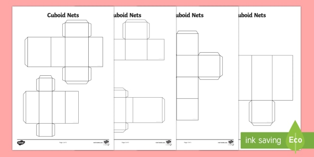 Cuboid Nets - cuboid, nets, shape, 3d shape, 3d, craft, numeracy, numbers, maths