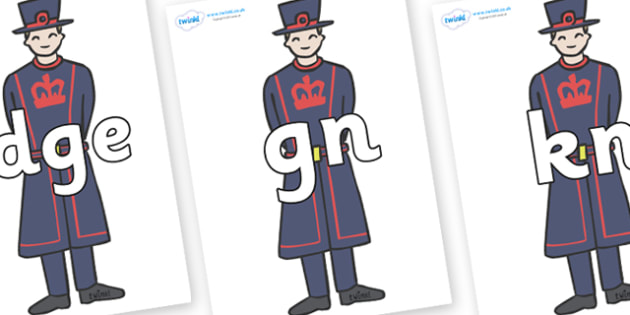 Silent Letters on Beefeaters - Silent Letters, silent letter, letter blend, consonant, consonants, digraph, trigraph, A-Z letters, literacy, alphabet, letters, alternative sounds