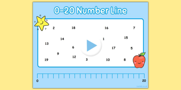 0-20 Number Line Notebook - 0-20, number line, notebook, numberline, maths, numeracy, interactive, iwb
