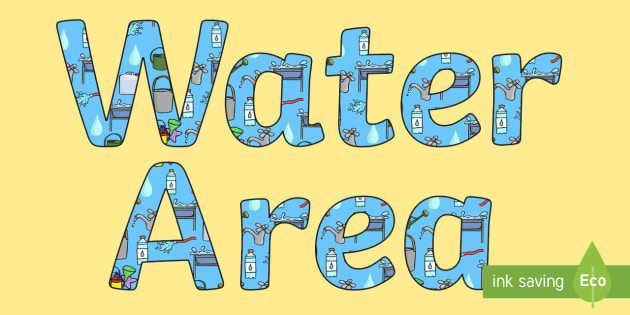 Water Area Display Lettering - water area, display lettering, display letters, lettering, display alphabet, lettering for display, alphabet letters, letter