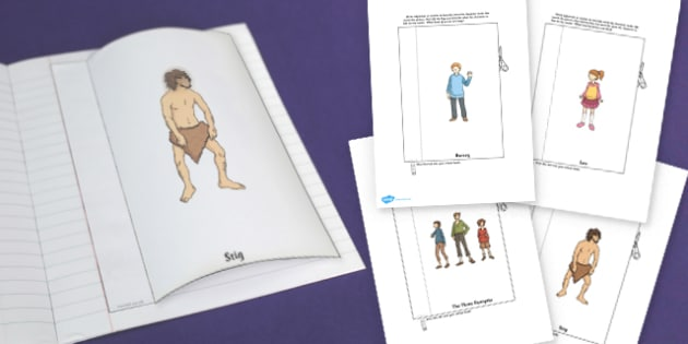 Stig of Dump Character Description Interactive Writing Template