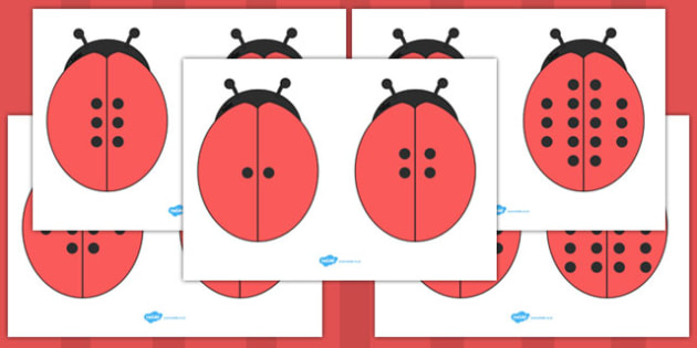 Ladybug Doubles Cut Outs - ladybug, doubles, cut outs, cut, outs