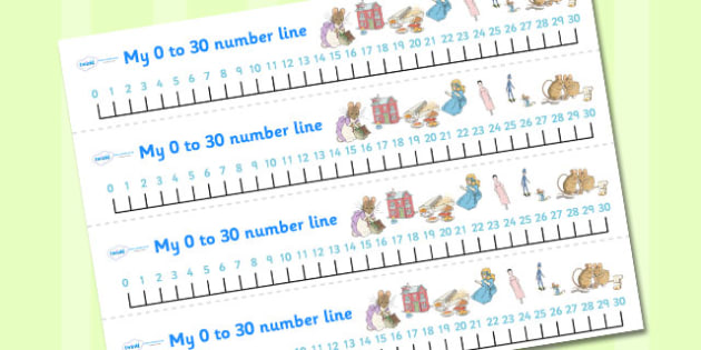 The Tale of Two Bad Mice Number Lines 0-30 - two bad mice, number