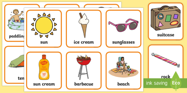 Summer Pairs Matching Game - games, activities, activity, pair