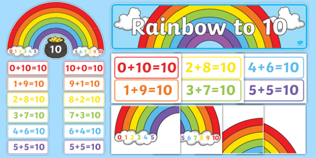 Rainbow to 10 Display Pack