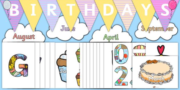 Birthday Display Resource Pack  - Birthdays, celebration, decorations, games