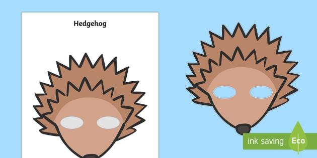 hedgehog mask template - - hedgehog, mask, role play, woodland animals, autumn,