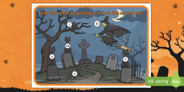 Halloween Themed Phonic Sounds Playdough Mats