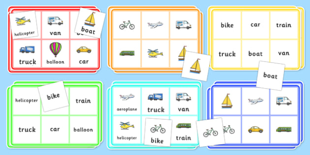 Transport Bingo - transport, bingo, transport games, games, game