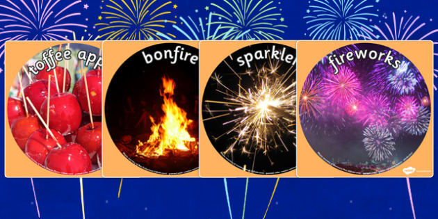Bonfire Night Display Photo Cut Outs - bonfire night, festivals