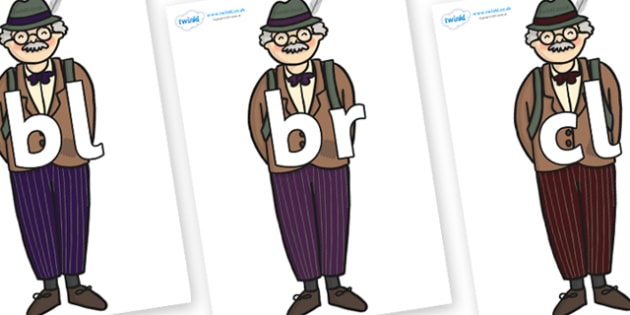 Initial Letter Blends on Beautys Dad - Initial Letters, initial letter, letter blend, letter blends, consonant, consonants, digraph, trigraph, literacy, alphabet, letters, foundation stage literacy
