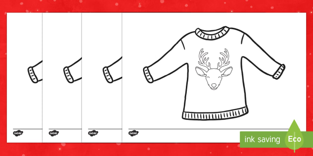 Christmas Jumper Colouring Pages