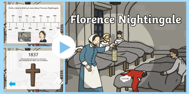 Florence Nightingale Timeline PowerPoint - florence nightingale, florence nightingale powerpoint, florence nightingale timeline, timeline powerpoint