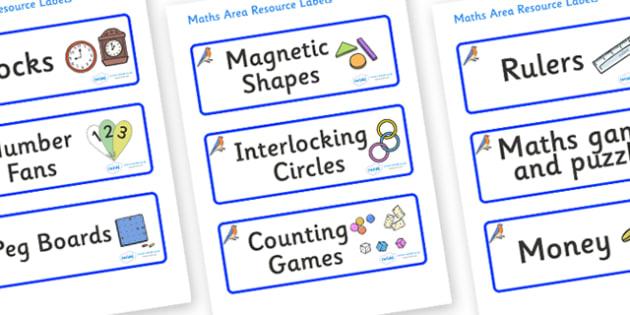 Bluebird Themed Editable Maths Area Resource Labels - Themed maths resource labels, maths area resources, Label template, Resource Label, Name Labels, Editable Labels, Drawer Labels, KS1 Labels, Foundation Labels, Foundation Stage Labels, Teaching La