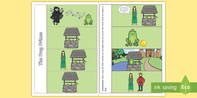 The Frog Prince Story Writing Flap Book - story, flap book, frog