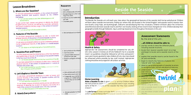 PlanIt - Geography Year 2 - Beside the Seaside Planning Overview