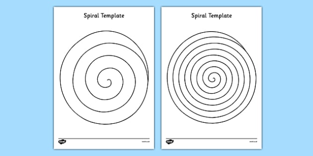 Spiral Template - EYFS, KS1, Early Years, shapes, scissor, cutting, fine motor, Physical Development.