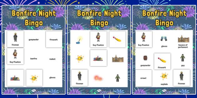 Bonfire Night Themed Bingo and Lotto Activity Pack - bonfire night, bingo, lotto