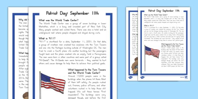 September 11th Fact File