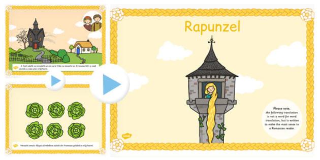 Povestea lui Rapunzel, Powerpoint,lectura, rezumat cu imagini, Romanian